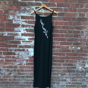 90's Black Maxi Dress